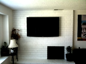 How To Hide Cables When Mounting Tv On Brick Fireplace Fireplaces